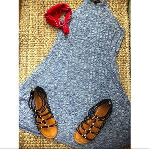 Blue-grey summer dress